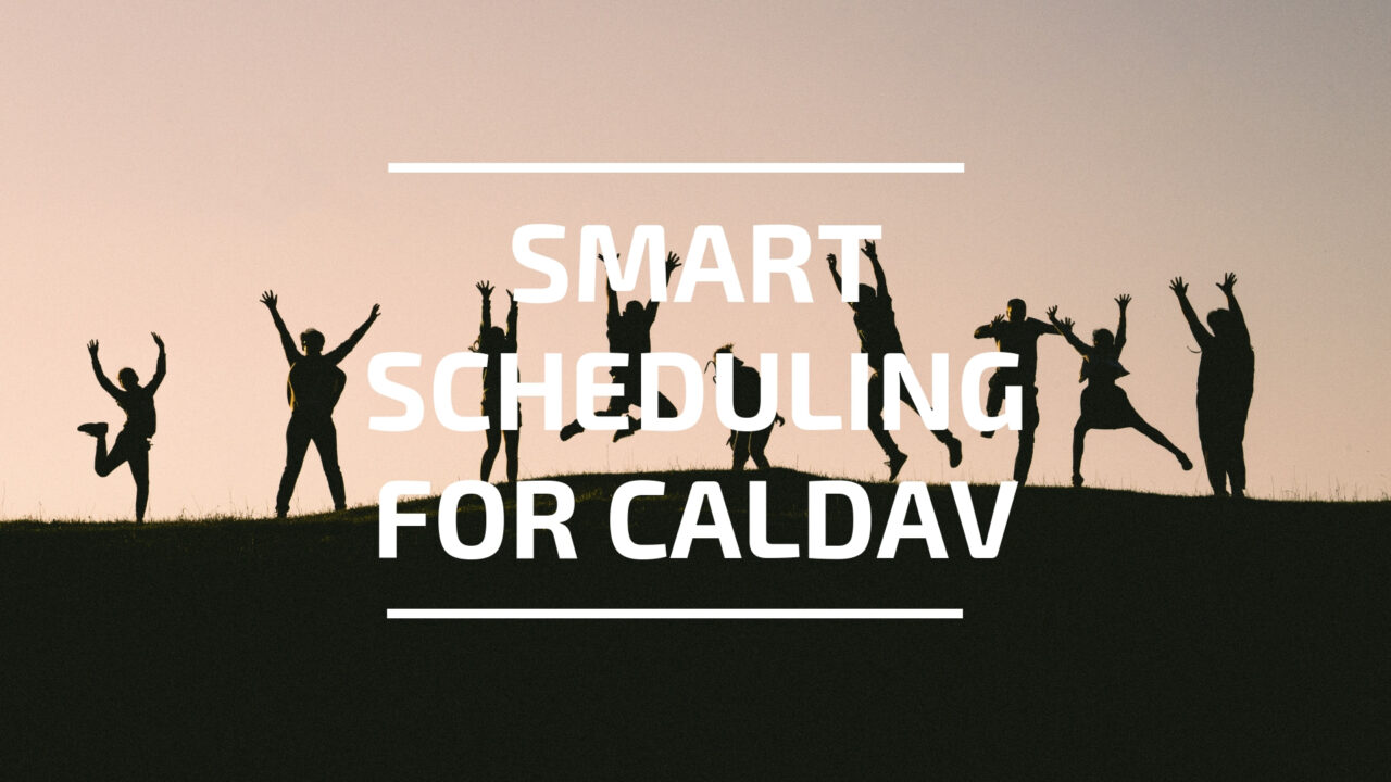 Smart Scheduling for Caldav header image