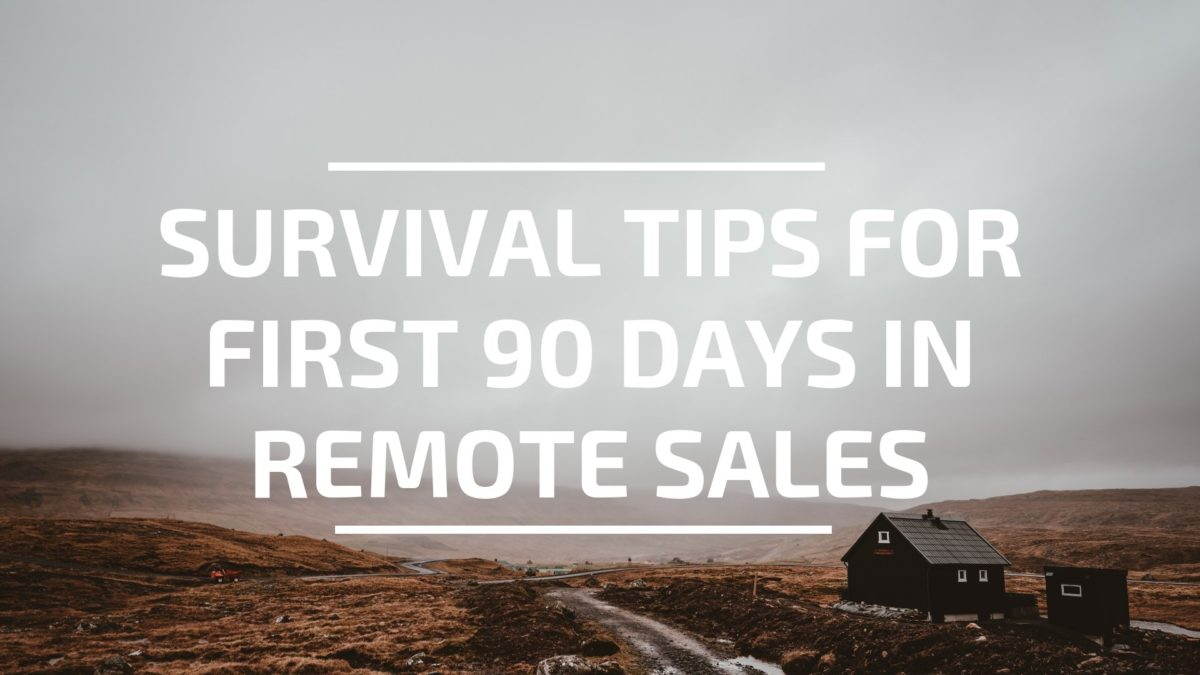 Survival Tips for First 90 Days in Remote Sales