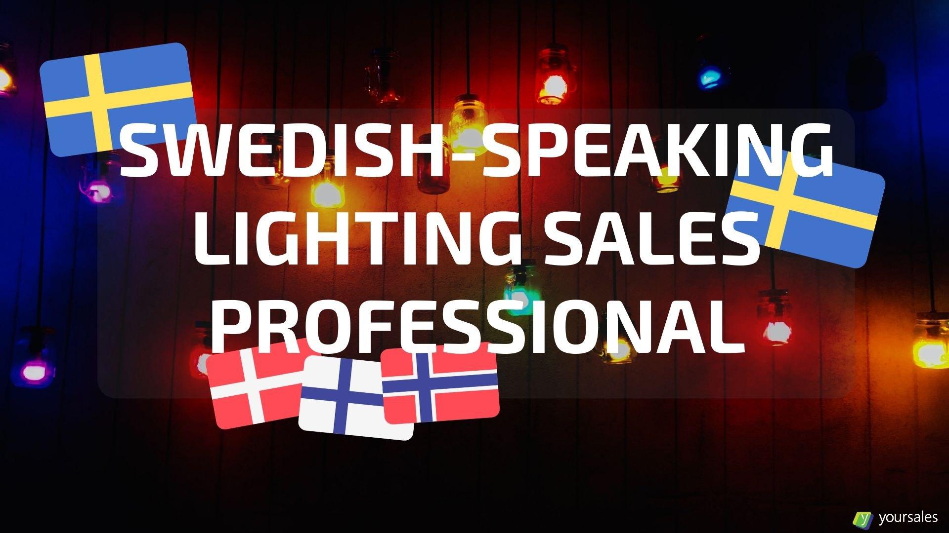 Swedish-speaking Lighting Products Inside Sales